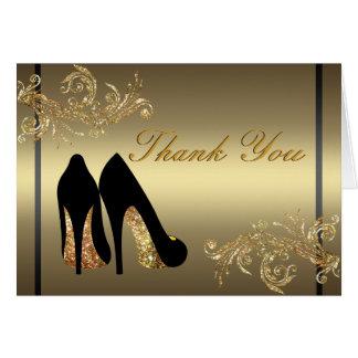 Dancing shoes matching Thank You Card