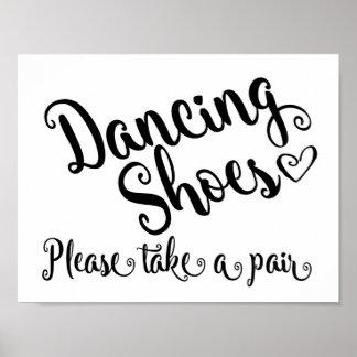 Dancing shoes wedding print