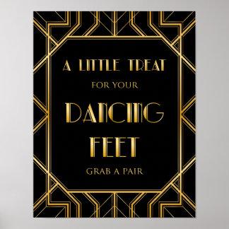 Dancing Shoes Wedding Sign   Gatsby Art Deco