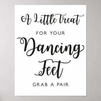 Dancing Shoes Wedding Sign   Modern Calligraphy