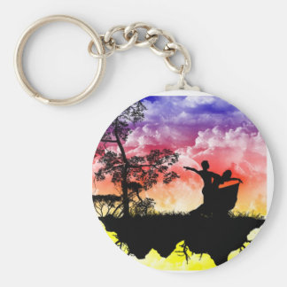 Dancing Silhouettes Keychain