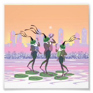 Dancing Singing Party Frogs Photo Print