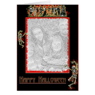 Dancing Skeleton border card