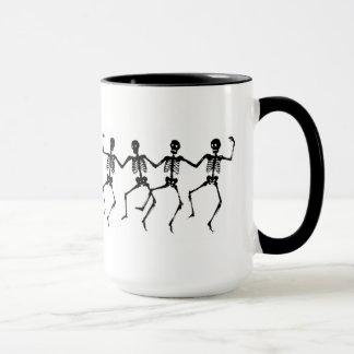 Dancing skeleton mug