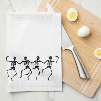 dancing skeleton towel
