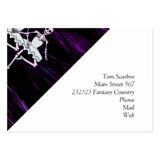 Dancing skeletons business card