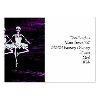 Dancing skeletons business card template