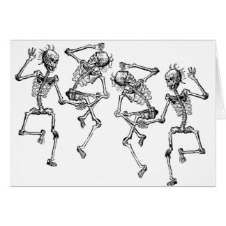 Dancing Skeletons Card