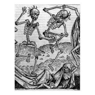 Dancing skeletons, 'Dance of Death' Postcard