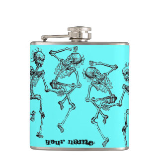 Dancing Skeletons Halloween Party Hip Flask Gift
