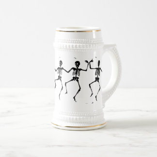 Dancing Skeletons Halloween Thunder_Cove Beer Stein