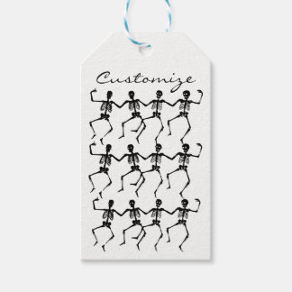 Dancing Skeletons Halloween Thunder_Cove Gift Tags
