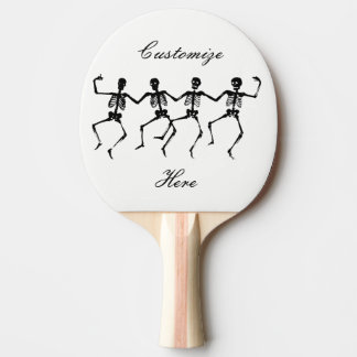 Dancing Skeletons Halloween Thunder_Cove Ping Pong Paddle
