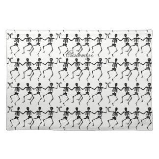 Dancing Skeletons Halloween Thunder_Cove Placemat