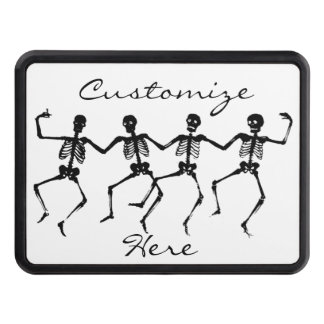Dancing Skeletons Halloween Thunder_Cove Trailer Hitch Cover