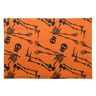 Dancing skeletons placemat