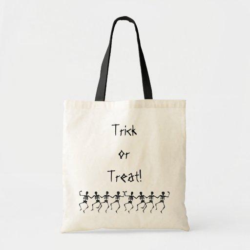 Dancing Skeletons Trick or Treat! Tote Bag