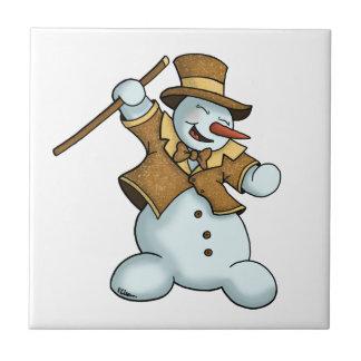 dancing snowman tile
