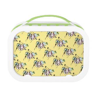 Dancing sprites & fairies - cute pattern dreamy lunch box