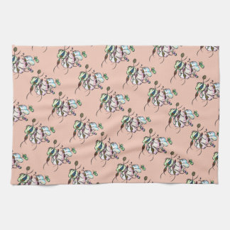 Dancing sprites & fairies - cute tribal art towel