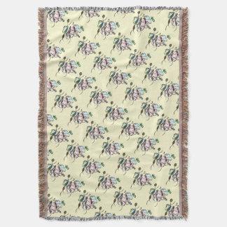 Dancing sprites & fairies - dreamy tribal bee throw blanket