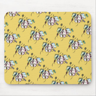 Dancing sprites & fairies - dreamy tribal bees art mouse pad