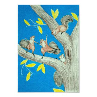 Dancing Squirrels Card