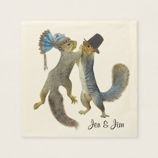Dancing Squirrels Paper Napkins