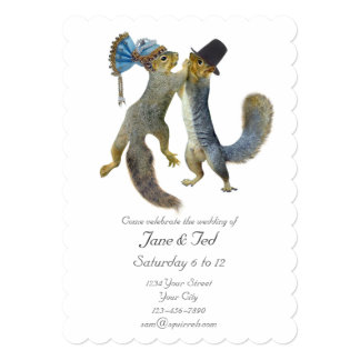Dancing Squirrels Wedding Invitation