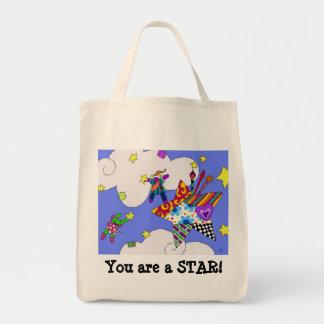 Dancing Star Patch Tote Bag
