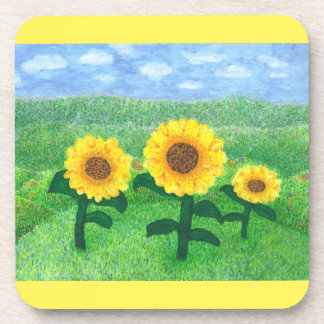 Dancing Sunflowers Coaster Set