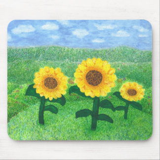 Dancing Sunflowers Mouse Pad