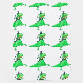 Dancing T-Rex Baby Blanket