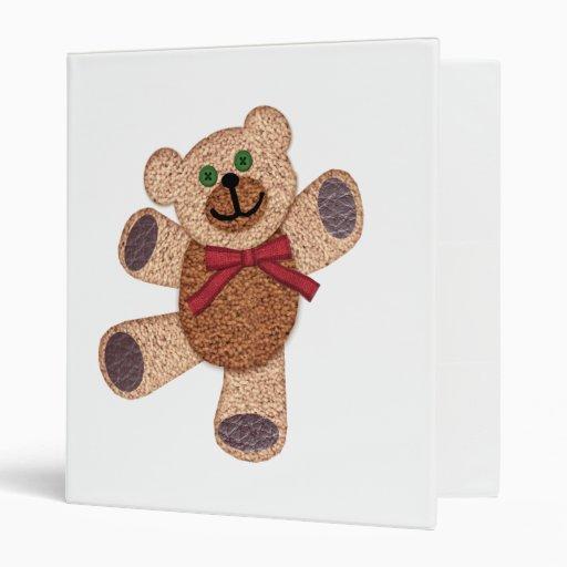 Dancing Teddy Bear Binder
