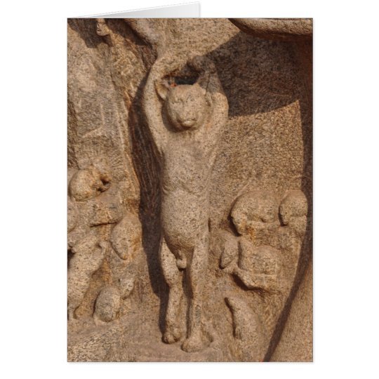 Dancing Temple Cat, India Card