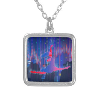 Dancing Through New Year Silver Plated Necklace