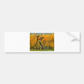 Dancing Tigers Bumper Sticker