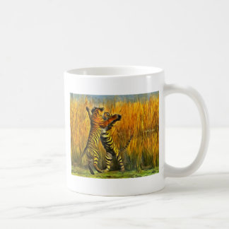 Dancing Tigers Coffee Mug