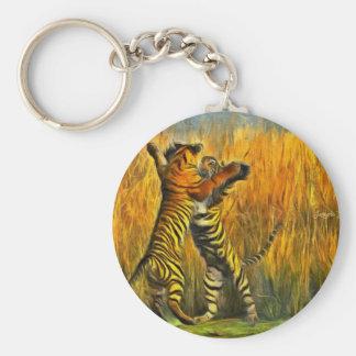 Dancing Tigers Keychain