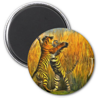 Dancing Tigers Magnet