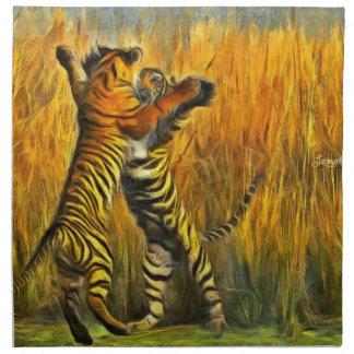 Dancing Tigers Napkin