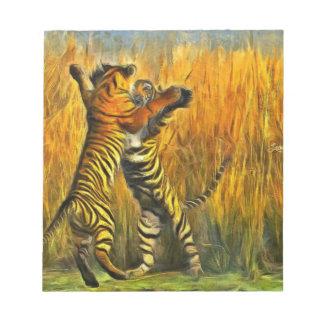 Dancing Tigers Notepad