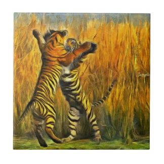 Dancing Tigers Tile