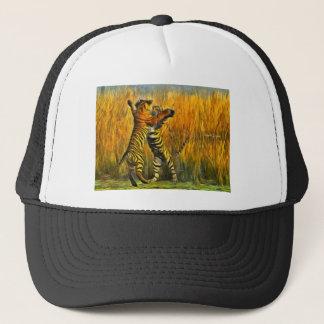 Dancing Tigers Trucker Hat