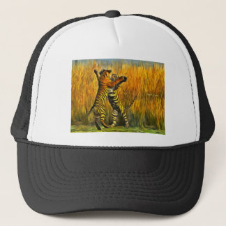 Dancing Tigers Trucker Hat