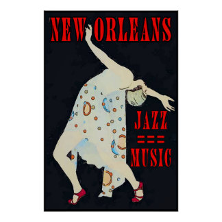 Dancing  to Jazz Music Orleans Poster