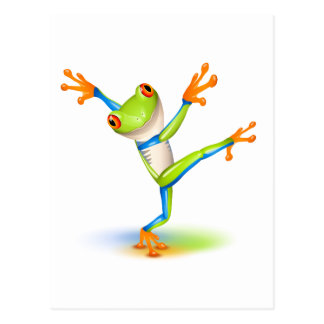 Dancing Tree Frog Postcard