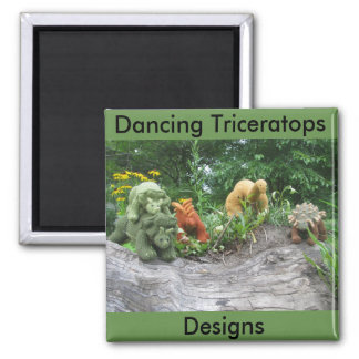 Dancing Triceratops Designs fridge magnet