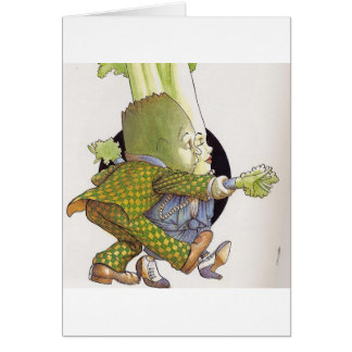 Dancing Veggie Note Card