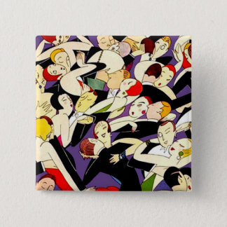 Dancing Vintage Couples 2 Inch Square Button